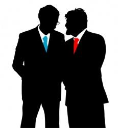 businessmen talking vector image