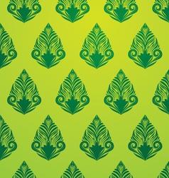 Green Pattern Wallpaper vector image