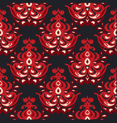 luxury damask flower seamless pattern vector image