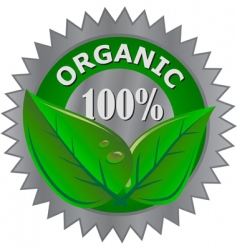 organic product label vector image vector image
