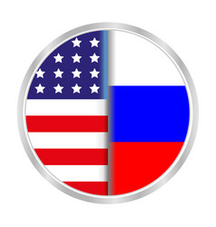 sign symbol relationship between the usa and russi vector image vector image
