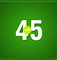 45 years anniversary green light template design vector
