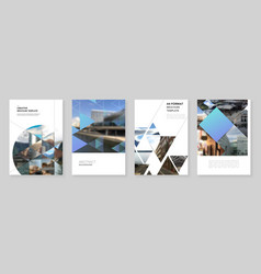 A4 brochure layout covers design template vector