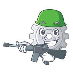 Army roda gear simple image on cartoon vector