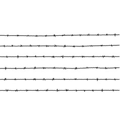 barbed wire fence barbwire border chain vector image