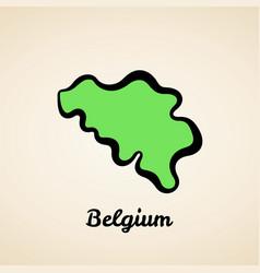 Belgium - outline map vector