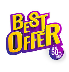 best offer 3d text vector image
