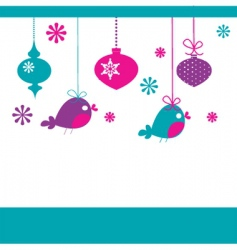 bird Christmas decorations vector image
