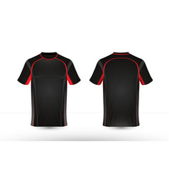 black and red layout e-sport t-shirt design vector image