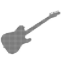 Black dot rock guitar silhouette vector