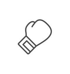boxing glove line outline icon vector image