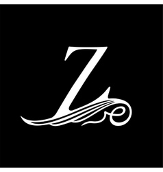 Capital Letter Z for Monograms Emblems and Logos vector image