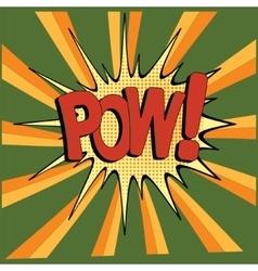 Cartoon green pow vector