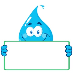 Cartoon water droplet vector