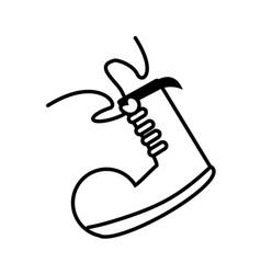 Clown shoe april fools line vector