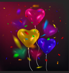 colorful balloons shape of vector image