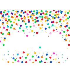 colorful confetti background isolated on vector image