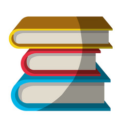 Colorful graphic of collection of books without vector