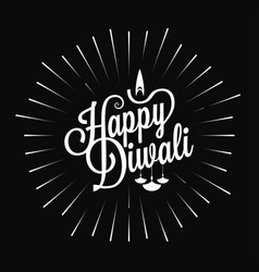 Diwali festival logo star burst design background vector