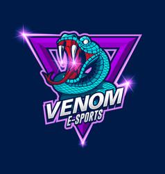 E-sports snake logo venom e-sport logo vector