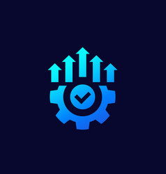 Efficient production and efficiency icon vector