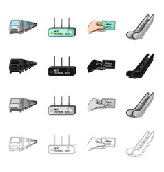 Electric train transport and other web icon in vector