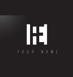 fe letter logo with black and white negative vector image