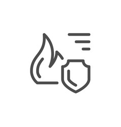 fire insurance line icon vector image