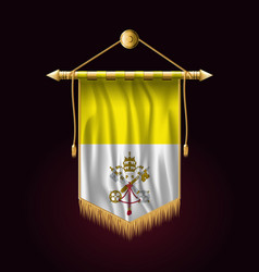 Flag of vatican city festive vertical banner vector