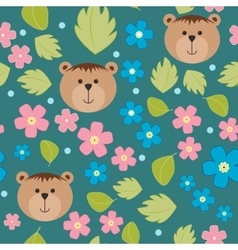 Floral background pattern with forget-me vector
