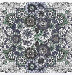 Floral mandala like pattern vector