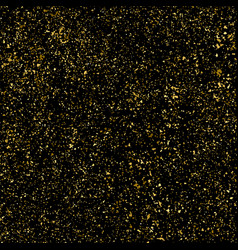 Gold glitter texture isolated on black square vector