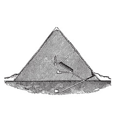 Great pyramid section pyramid cheops vintage vector