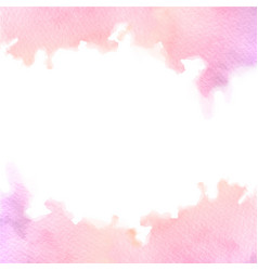Hand painted pink watercolor border texture with vector