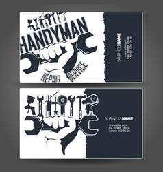Handyman business card design vector