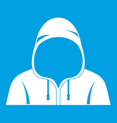 Hood icon white vector