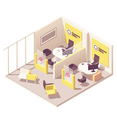 Isometric customer service department vector
