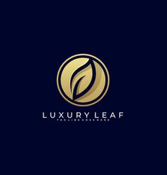 leaf luxury template vector image