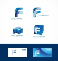 Letter f logo icon set vector