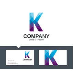 Letter k - logo design vector