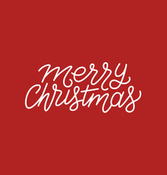 merry christmas calligraphic line art typography vector image