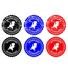 netherlands rubber stamp vector image