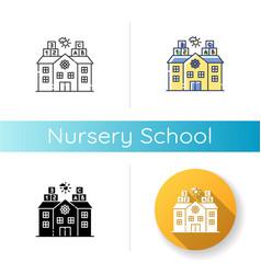 Nursery school icon vector
