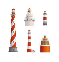 old lighthouses set vector image