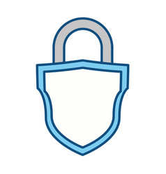 Padlock security symbol vector