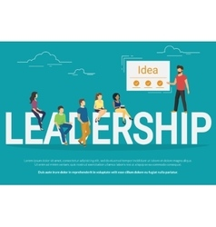 Project leadership concept of vector