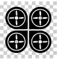 Quadrocopter icon vector
