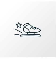 racing skates icon line symbol premium quality vector image