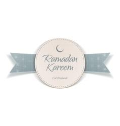 Ramadan Kareem Eid Mubarak Label vector