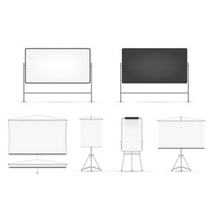 realistic board set isolated on white background vector image